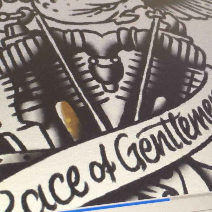 flash painting  for the great @oilers cc / mc event the race of gentlemen at pis