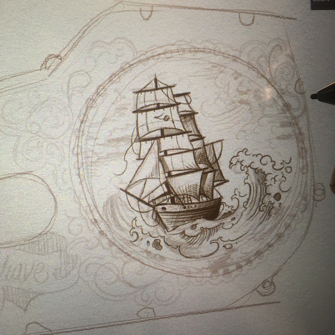 idea sketch for upcoming project in some weeks  for my chinese customers ..looki