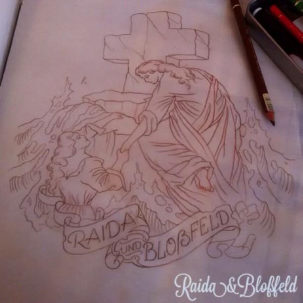 2. Gravurarbeit die ich angefertigt habe, in Schritten festgehalten. #raidaundbl