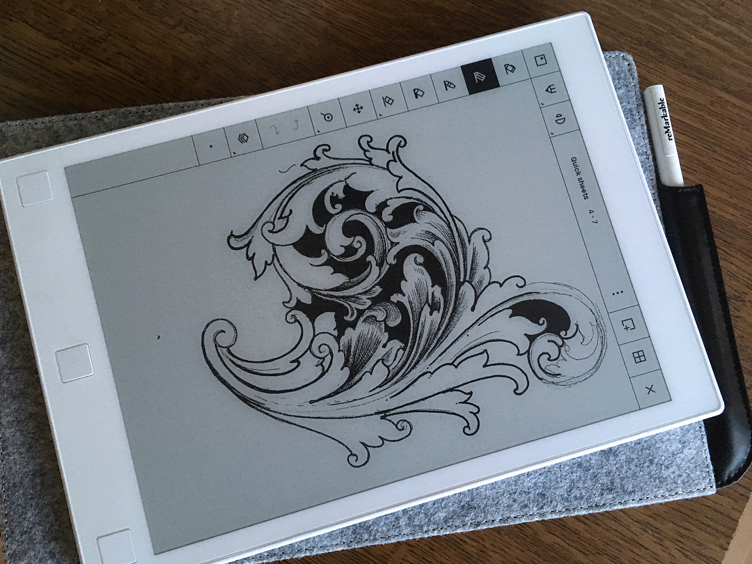 2 more sketches more on the remarkable tablet. love the minimalizm.. @remarkable