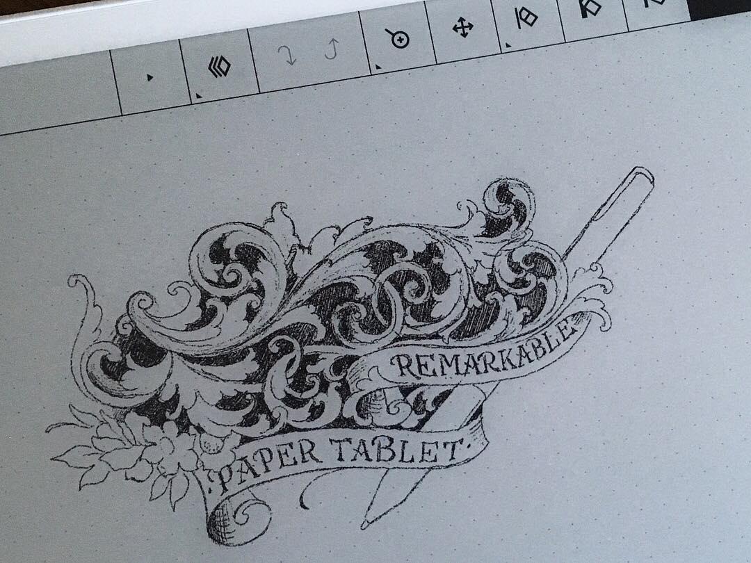 @remarkablepaper #remarkablepaper #remarkable #paperfeelings #scrollwork #mermai