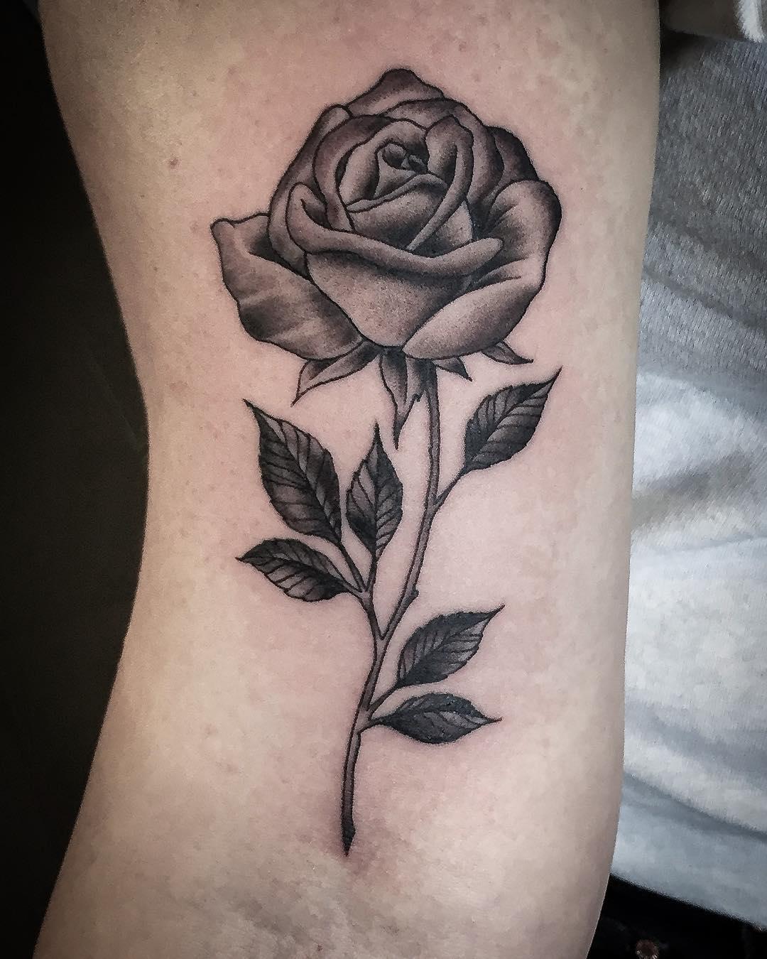 A rose tattoo. . . . #tattoo #tattooing #tatovering#blackwork #blackworkers#blac...