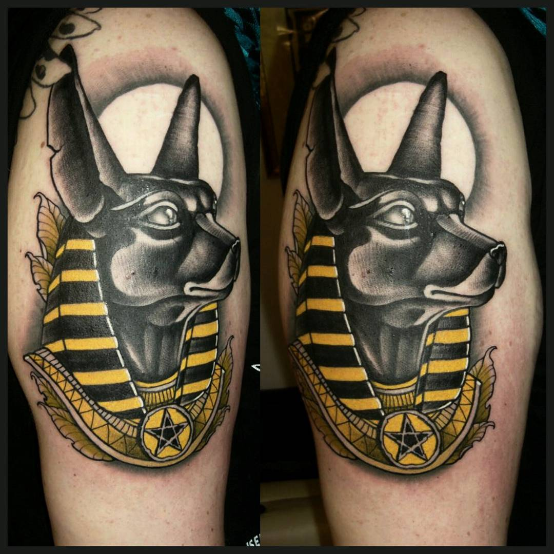 Anubis from yesterday....big thx to Katharina for the nice session #germantattoo