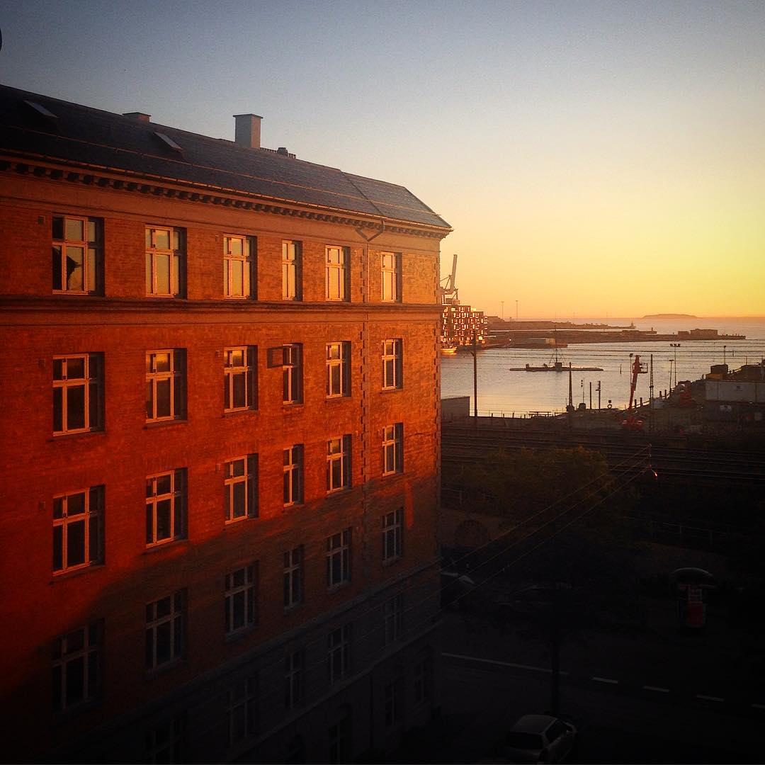 Beautiful sunrise over Copenhagen this morning! Now off to my even more beautifu...