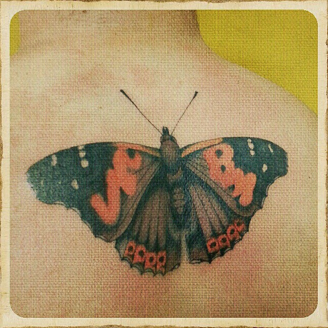 Cardboard butterfly, thanks again george.. #stuckinthepasttattoo #dortmundfinest