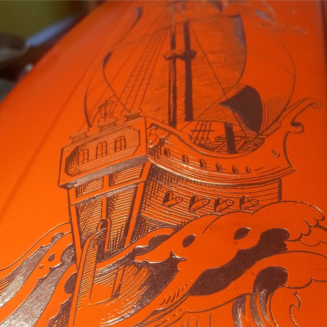Detail, #raidaundblossfeld  #handwerkinschriftundgravur #engraving #handengraved