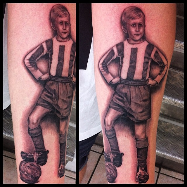 Doing Soccer Tattoos in Denmark instead of watching Soccer Worldcup in Germoney ...