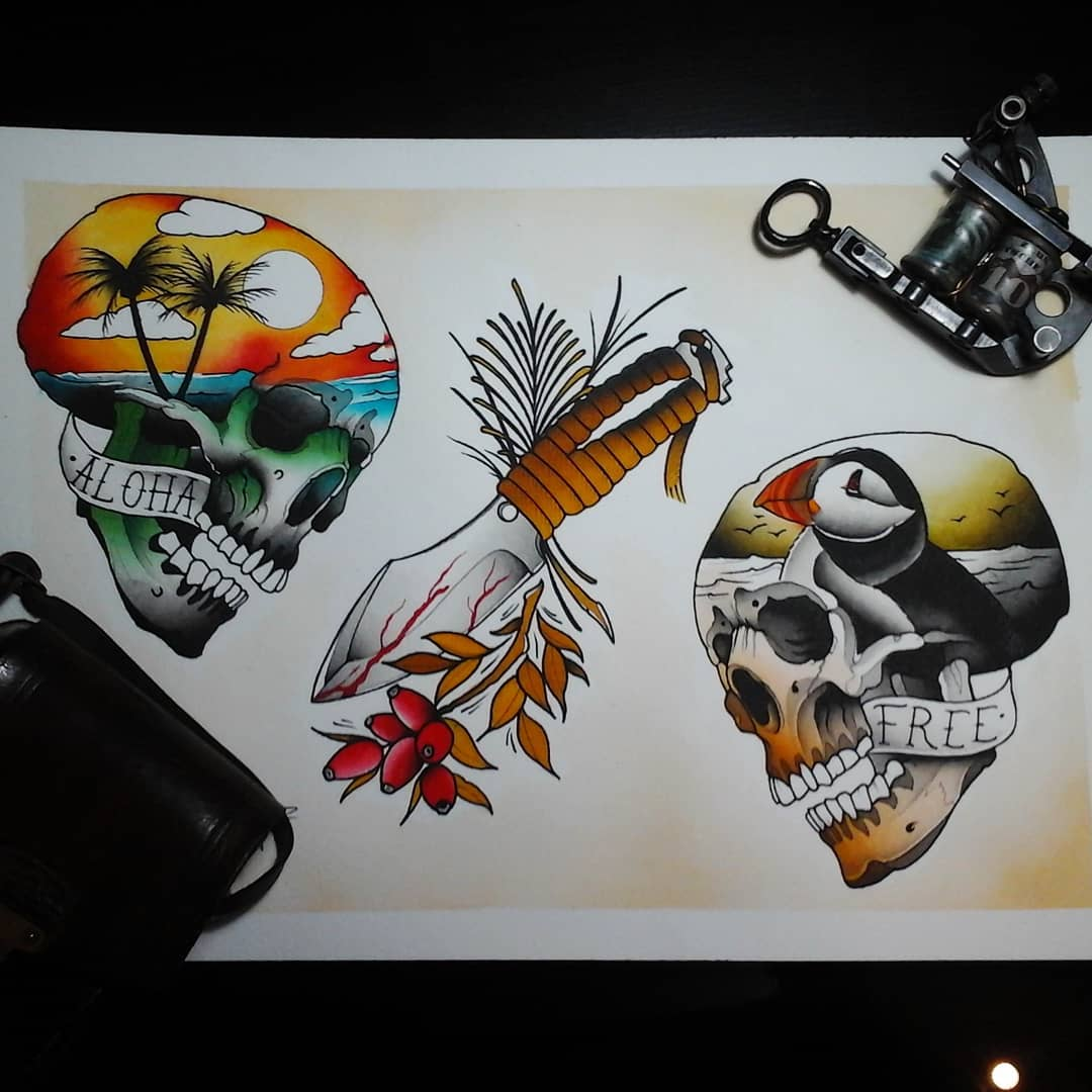 Done..... all available as tattoo, hit me up. #germantattooers #germanartist #ta