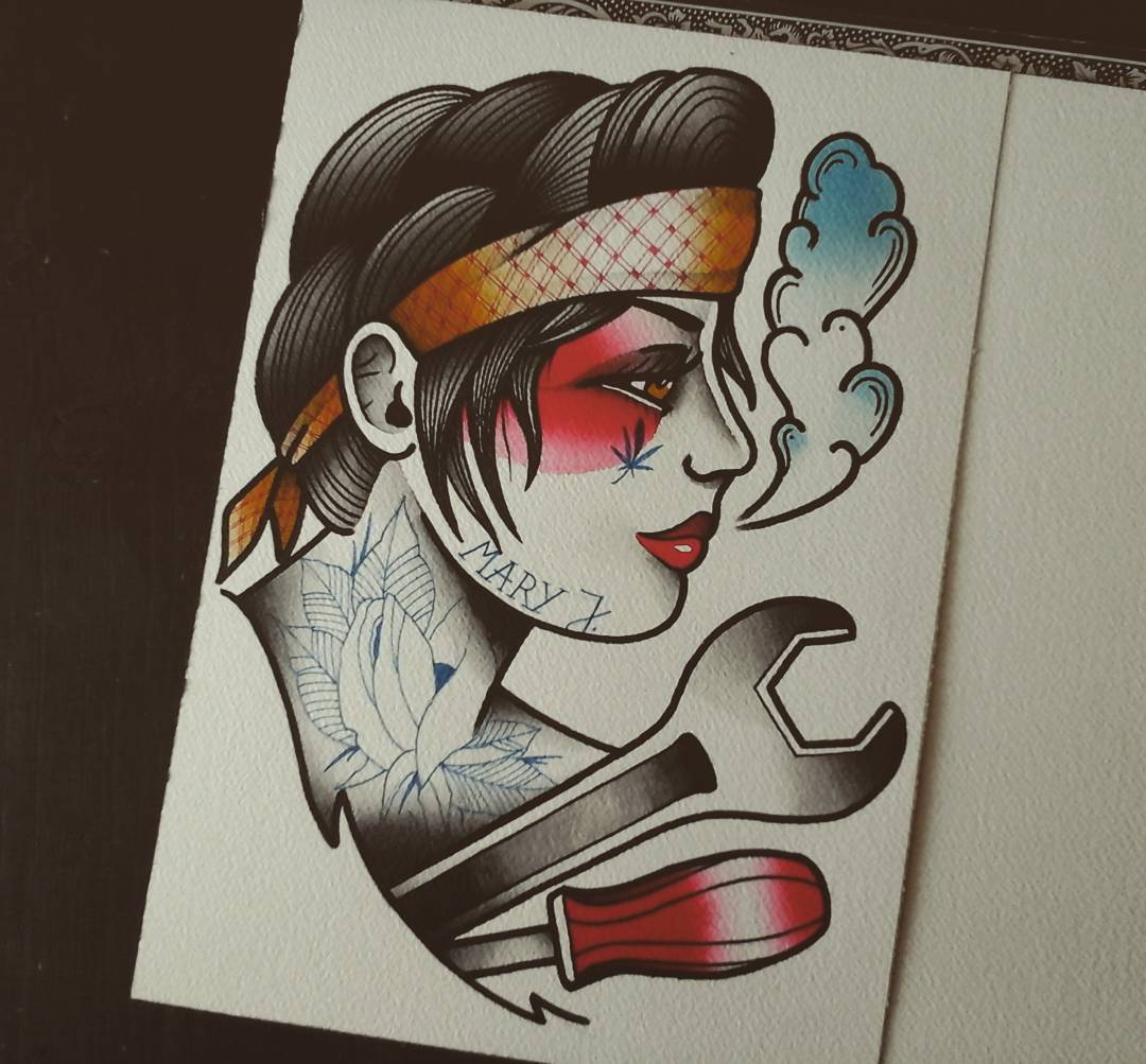 Done....and up for grabs #germantattooers #tattooworkers #flashworkers #traditio