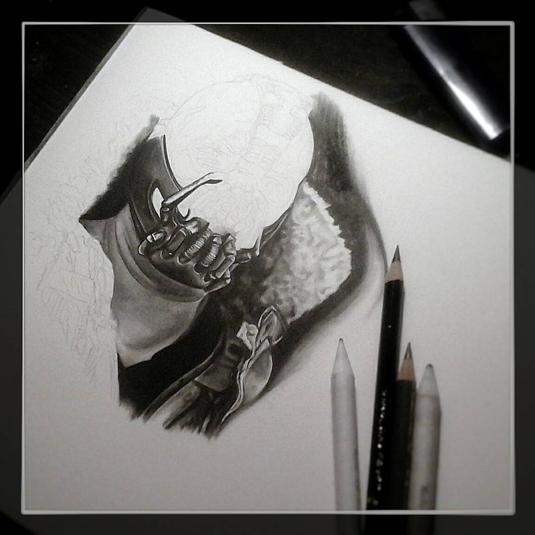 Drawing Bane .....trinking coffee..and watching starwars....qiet normal saturday
