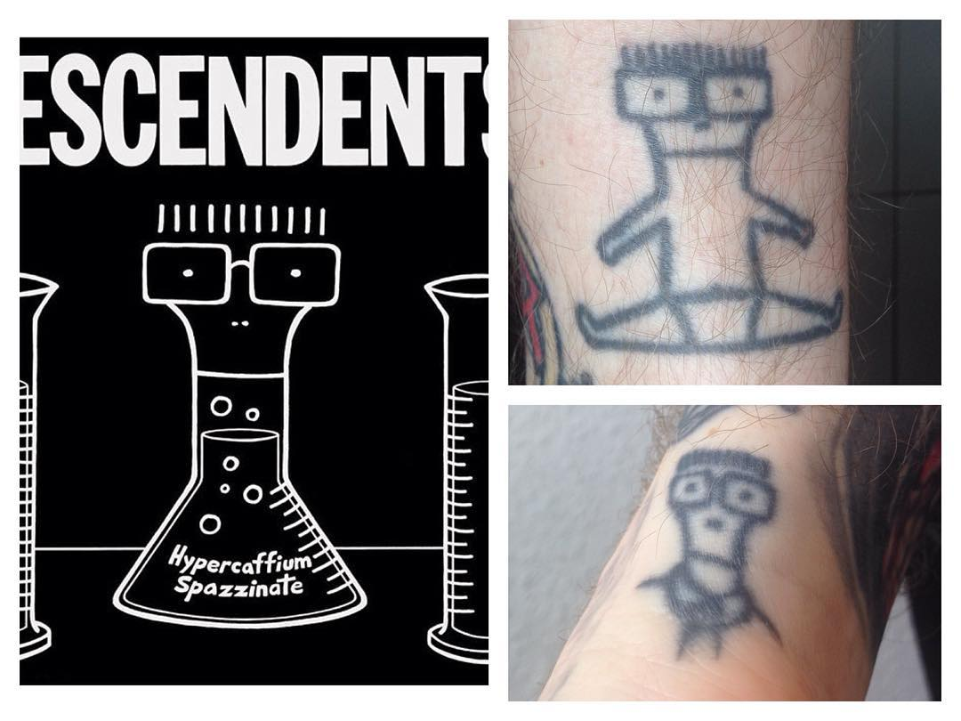 "Drinking coffee and listening to the new Descendents Full Length ""Hypercaffium S..."