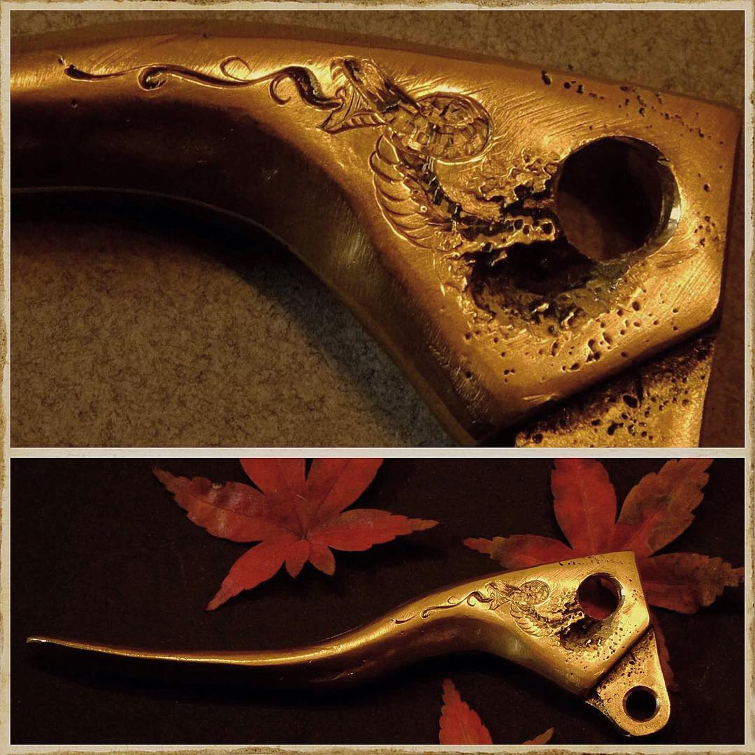 """Final look of the  Creative elaboration of this small """"mistake"""" on this brass pa"""