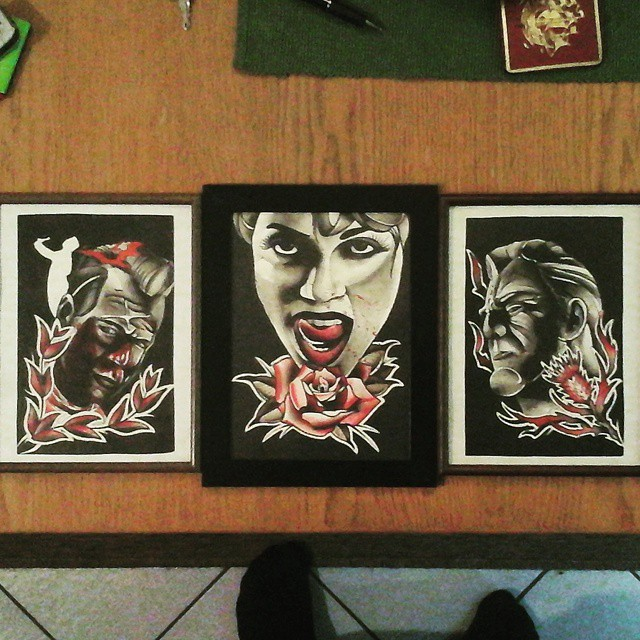 Finally done with the sin-city-threesome....also available for tattooing. Thx fo