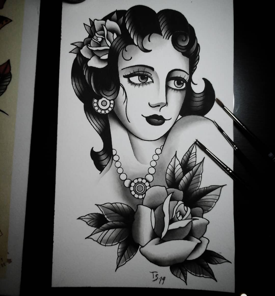 Finally done with this lady #germantattooers #germanartist #tattooworkers #tatto