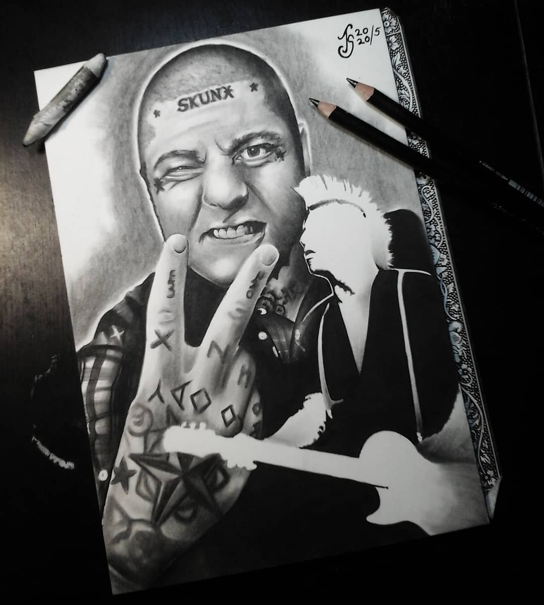 Finally finished @larsfrederiksen from @rancid  Thx for watching! #germantattooe