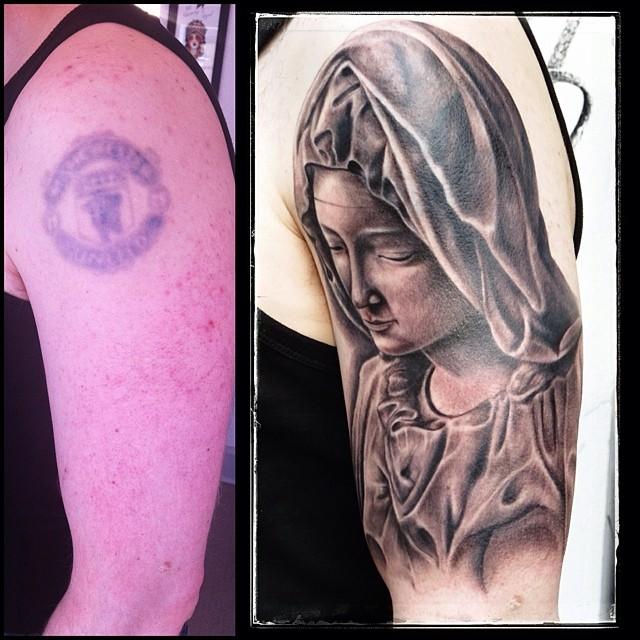 Finished this piece today @royaltattoodk Tusind Tak, Christian! #tattoo #tattooi...