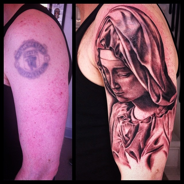 First Session today on this Cover-Up Project in progress - 4,5 hours in, can't w...