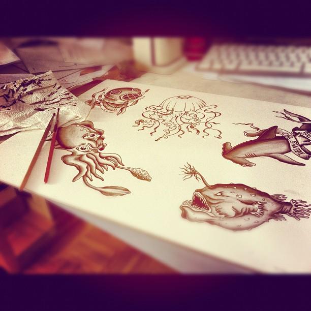 Flash sheet in progress #flash#flashsheet#tattooflash#tattoo #tattooart #tattooi...