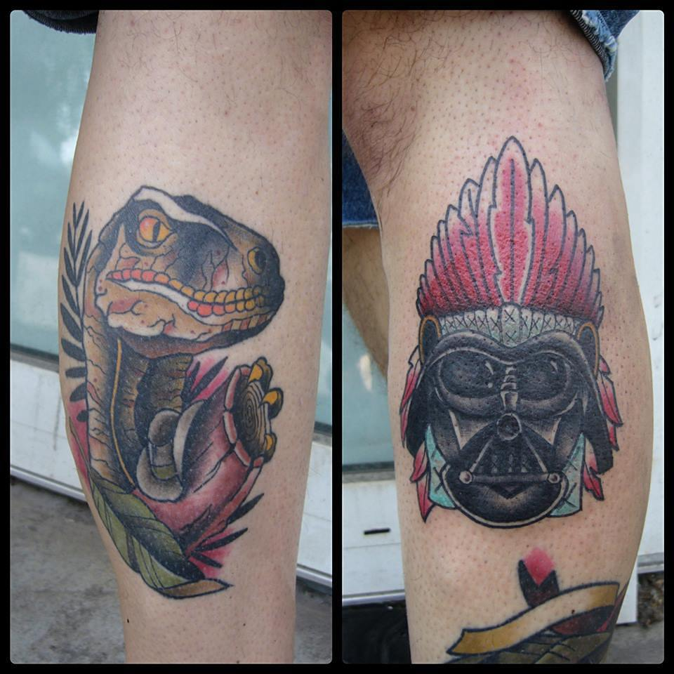 Fully healed raptor and a fresh Vader from last week....thx again marcel, you ar