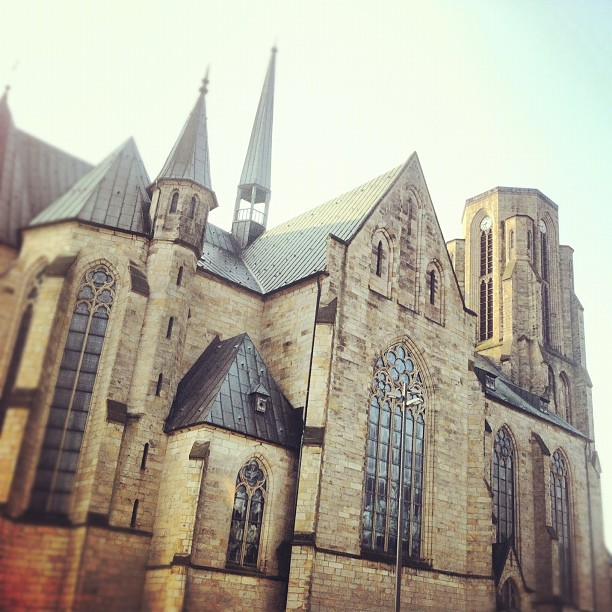 Good Morning Buer! #gelsenkirchen#buer#church#dome#dom#doom#sunrise#dawn#sky#sky...