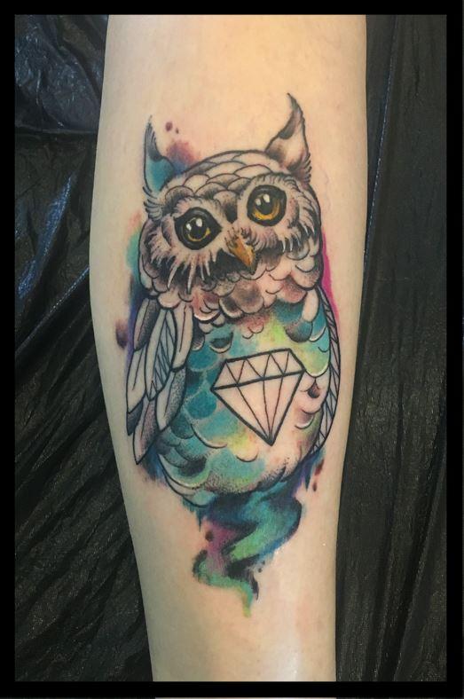 Haltbares Aquarell Tattoo von Marina Paul angefertigt. :-)