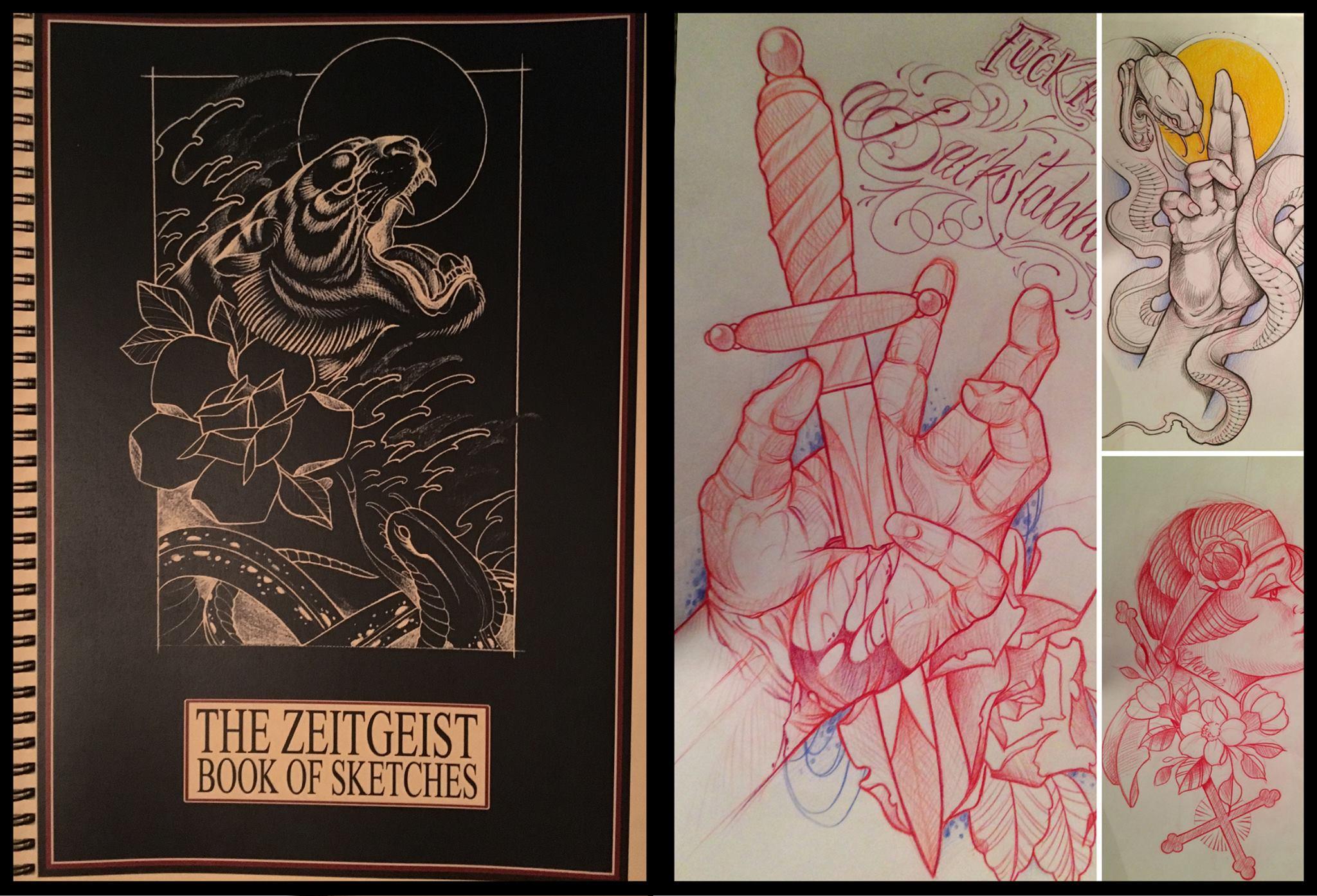 Here we go...Das erste Zeitgeist Sketchbook von Ron Raida ist nach langem warten