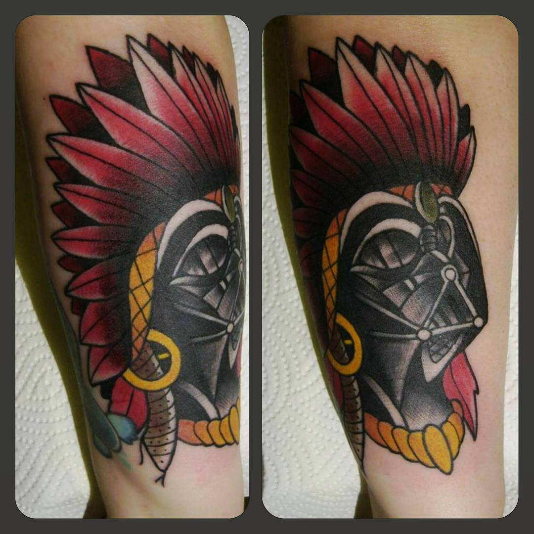 I am your father....and an indian chief thx for looking #germantattooers #tradit