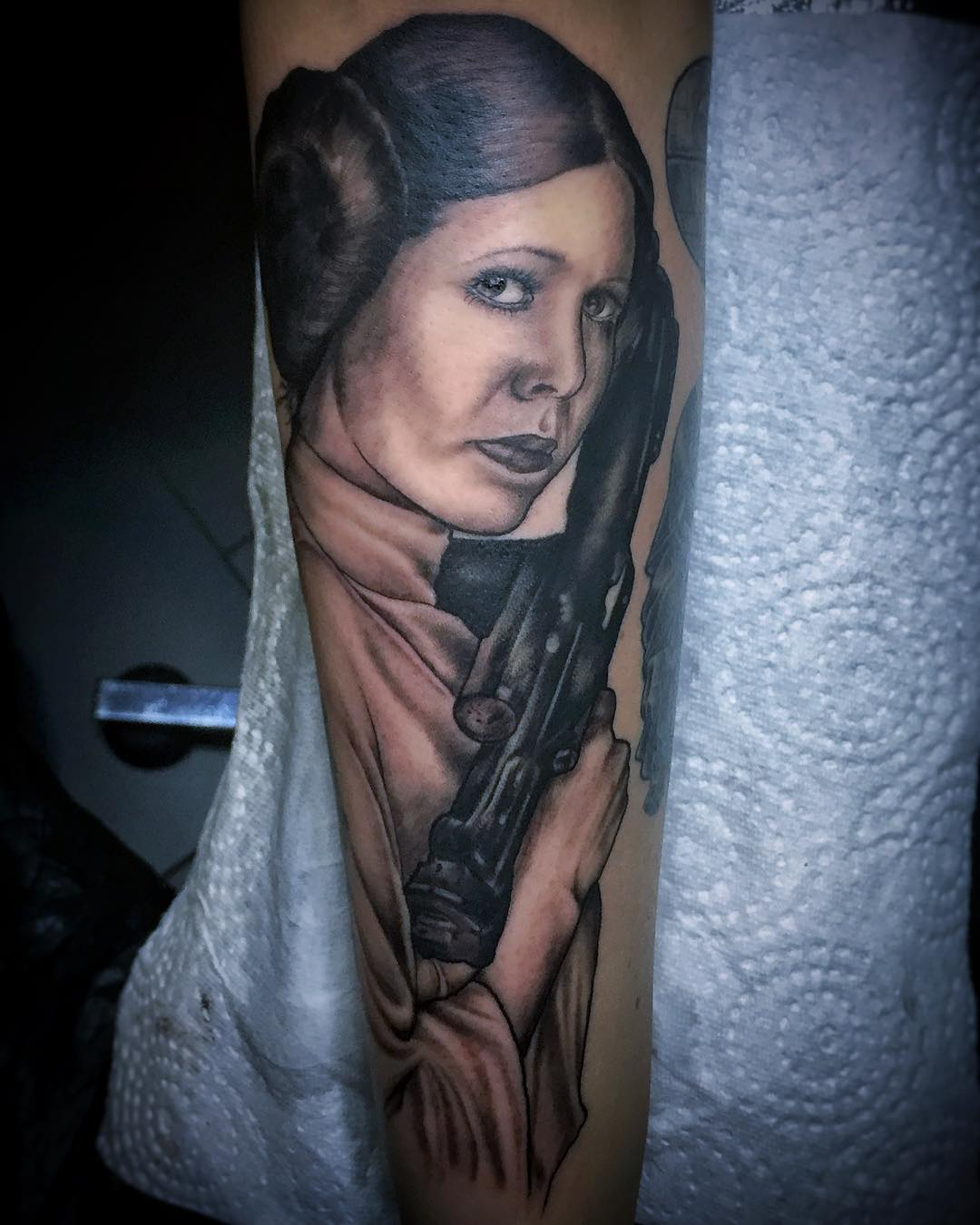 In memory of our beloved princess. . . . #tattoo#tattooing#blackandgreytattoo#bl...