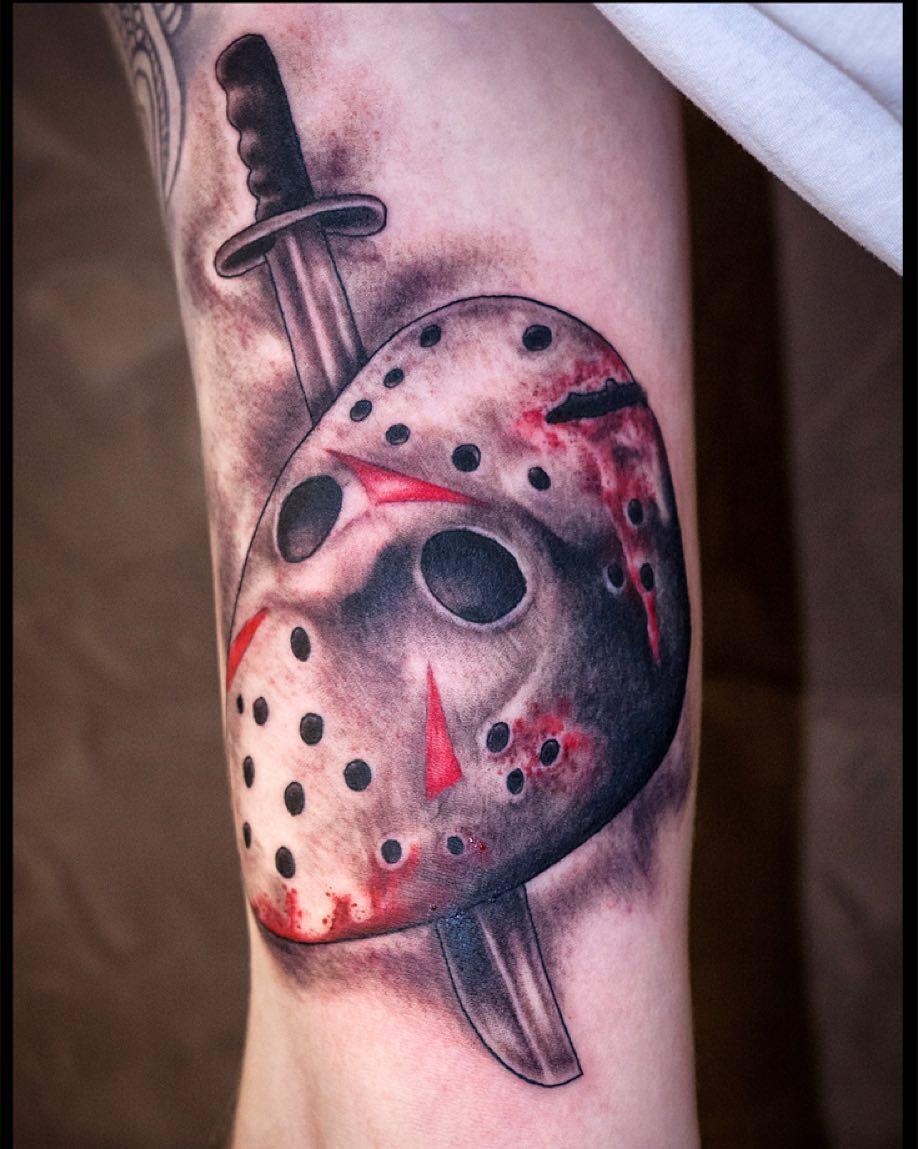 It's Friday, 13th. #tattoo #tattooing #tatovering #friday13th #jason#jasonvoorhe...