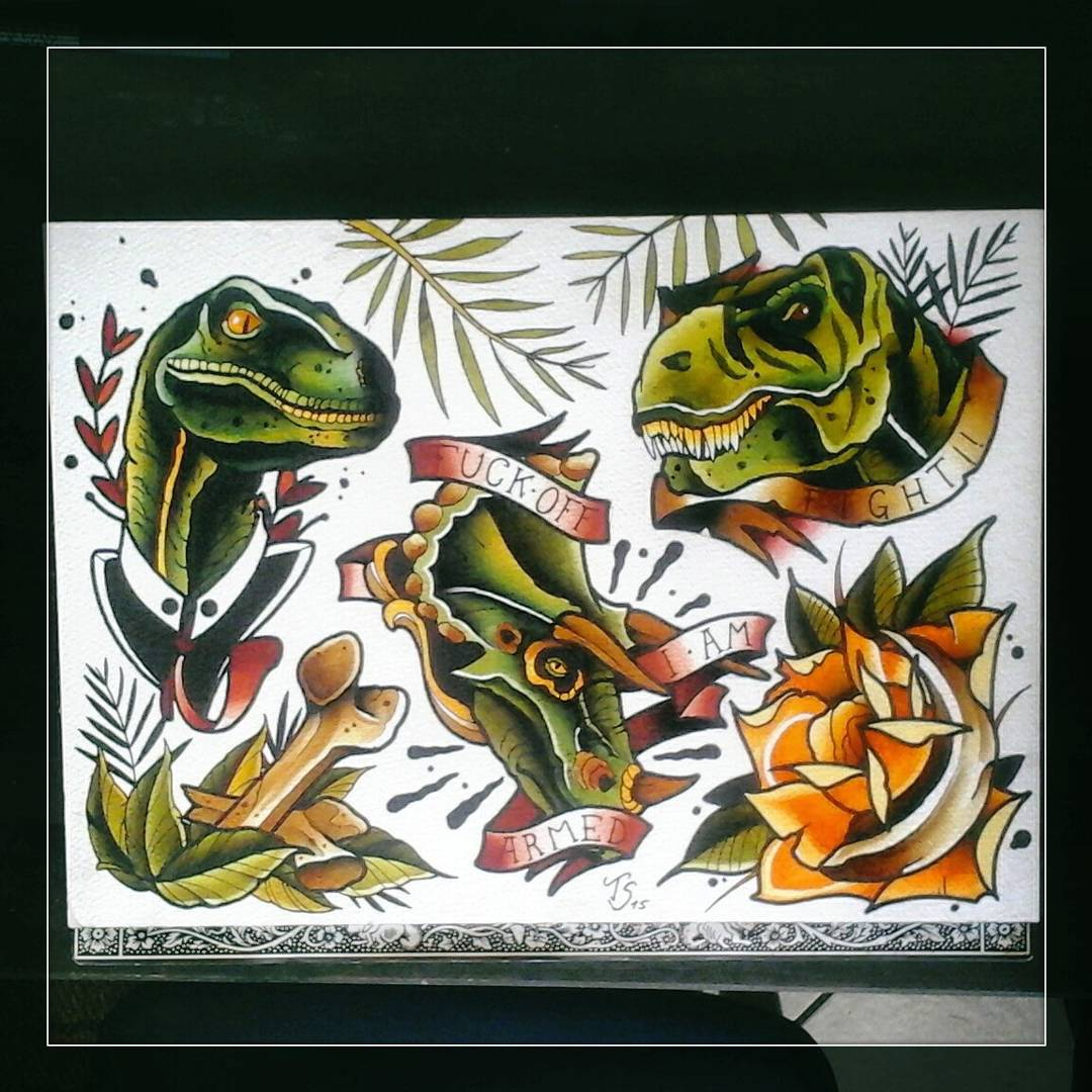 Jurassic wannados....up for grabs....write me for appointments #germantattooers
