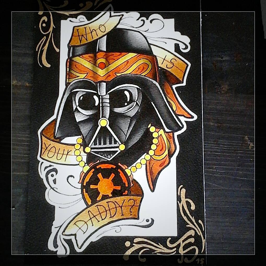 Just finished this vader.....would love to tattoo it.... #germantattooers #tatto
