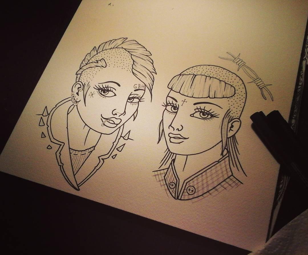Lil latenight-drawing...... #germantattooers #tattooworkers #wannado #linedrawin