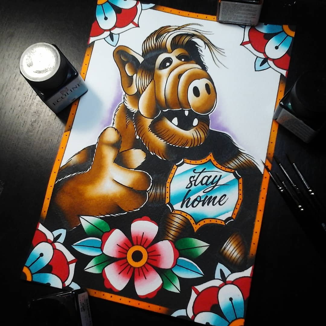 Listen to Alf! My contribution for the bookproject @stayhomebookproject made by