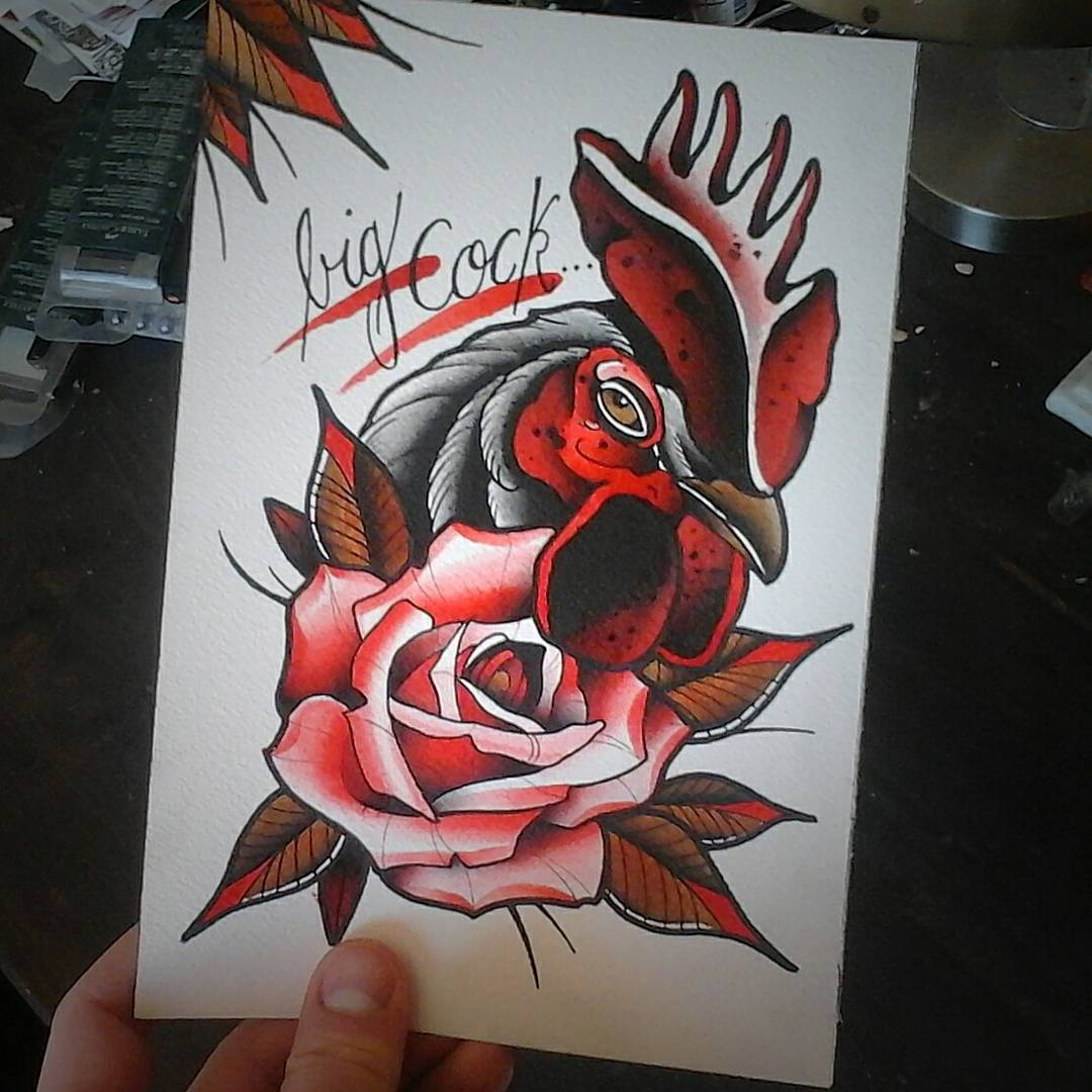 Little painting from last night....also possible for tattooing  #germantattooers