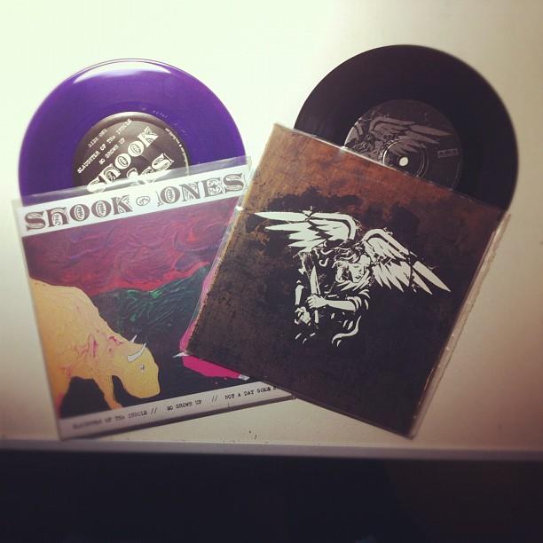Made myself some presents today  #shookones#americannightmare#7inch#vinyl#1stpre...