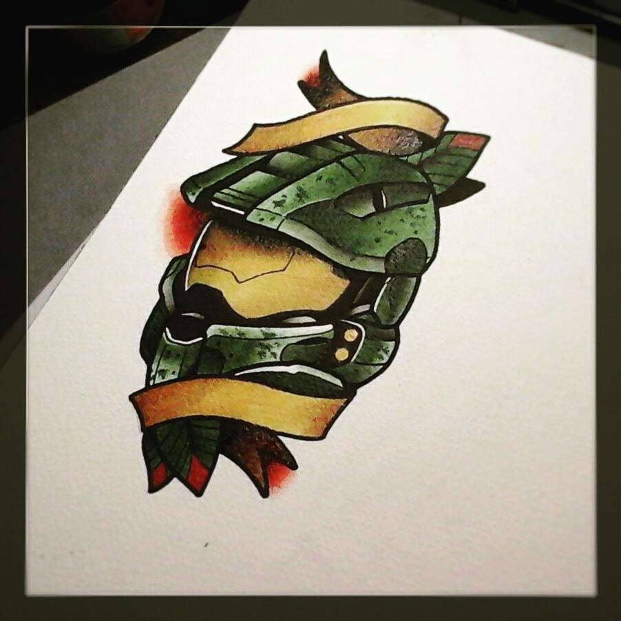Painting for tomorows client....cant wait to tattoo this #germantattooers #tradi