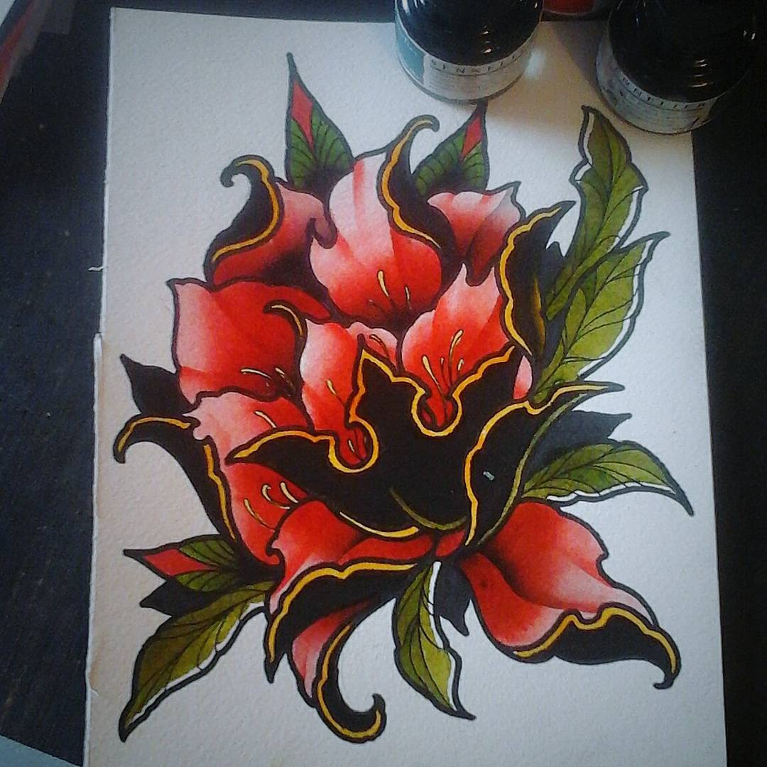 Paintingsunday......would love to tattoo this one.  #germantattooers #flashworke