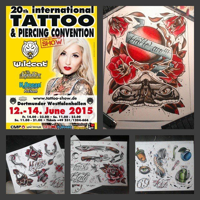 Prared for the Dortmund Tattooshow....hope to see you there. #docon  #germantatt