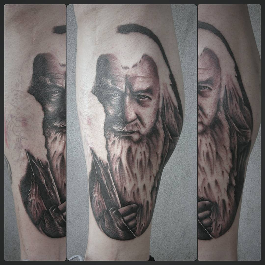Progress-shot from today....love doing this gandalf...camt wait to finish #germa
