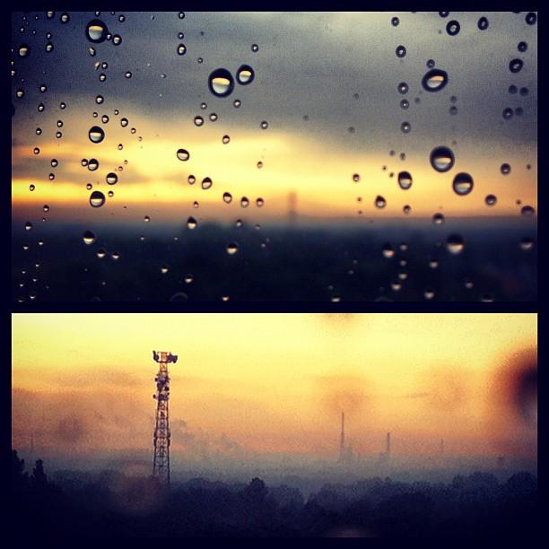 Rainy Ruhrpott Sundown #ruhrpott #recklinghausen#ruhrgebiet#sky#skyline#rain#rai...