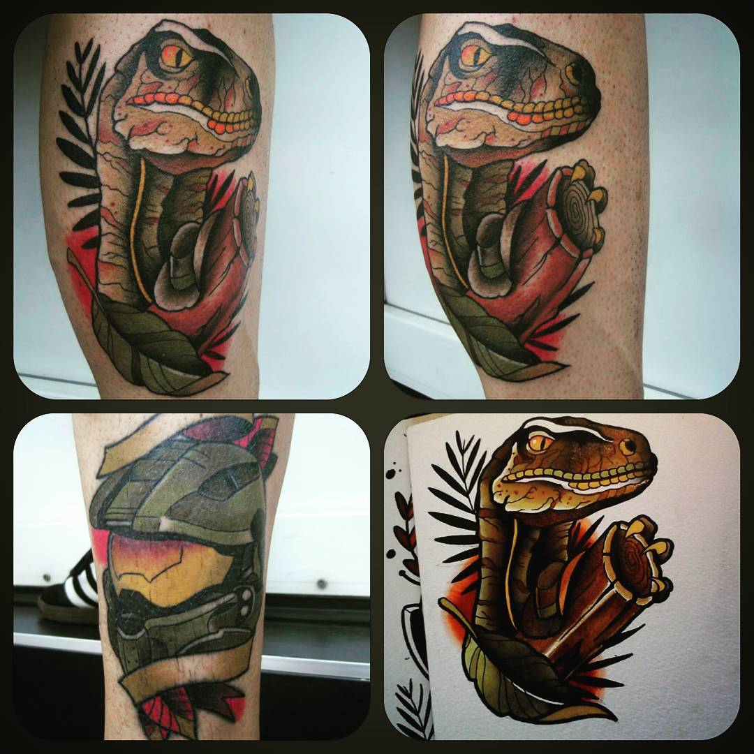Raptor from today......and healed masterchief Thx for looking. #germantattooers