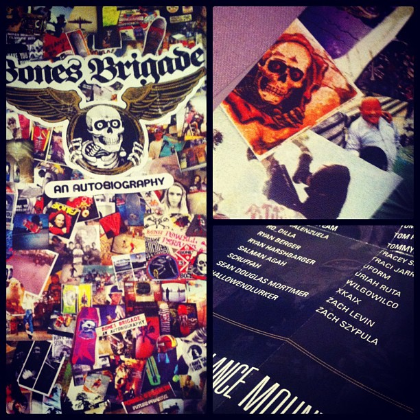 Received a copy of the Bones Brigade Autobiography today and just found out that...