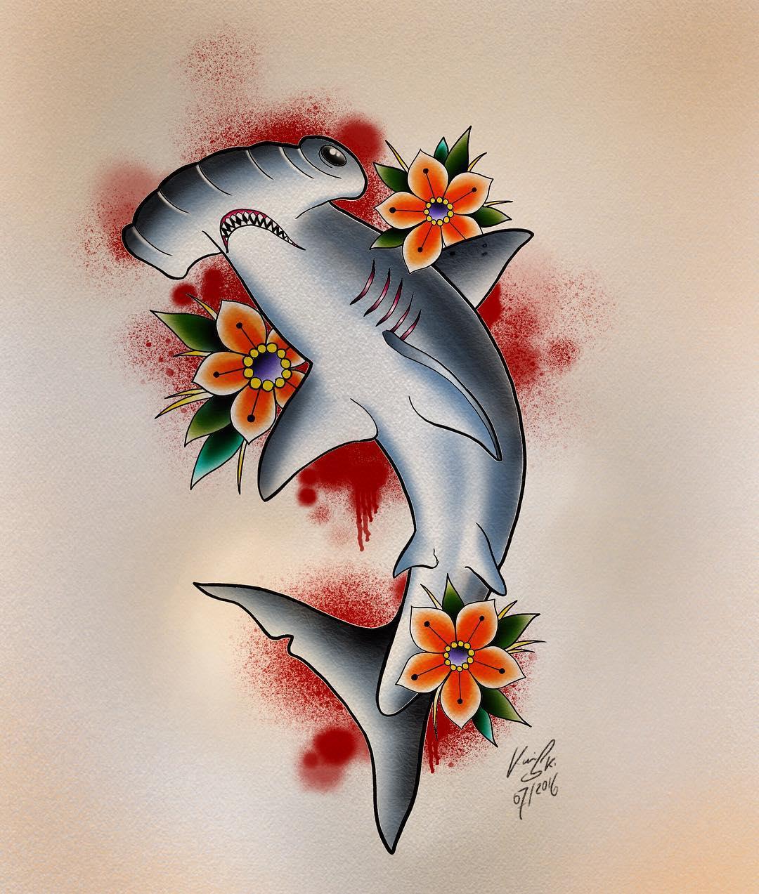Shark weekend.  #tattoo#tattooing#tatovering #tatouage #traditional#traditionalt...