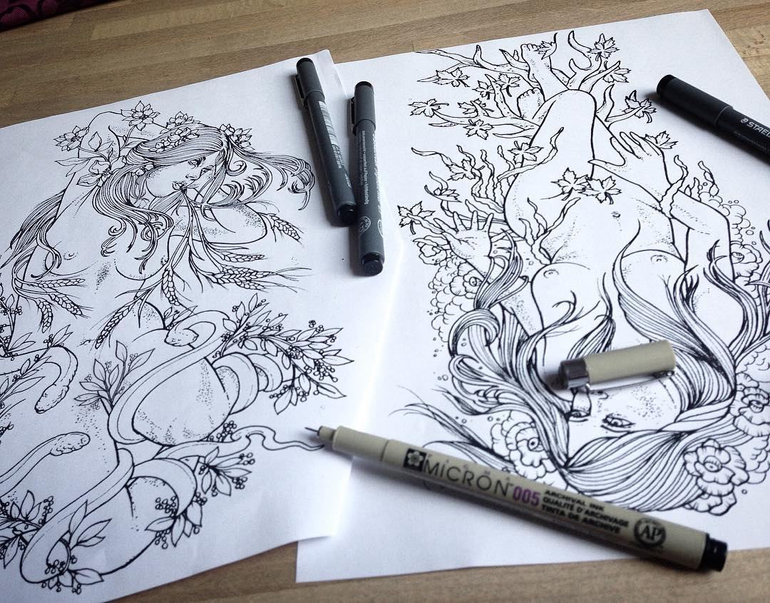 Sketching the f*#$ out of this custom piece for two days in a row of fun (at lea...