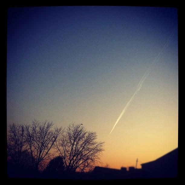 Sky's the limit.  #sky#clouds#sundown#dusk#gelsenkirchen#buer...