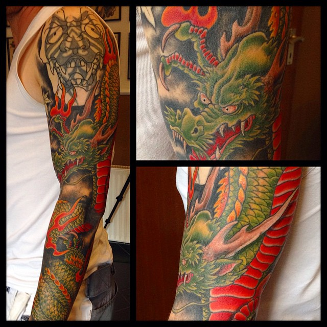 Small Cover-Up in progress, loads of fun - can't wait to finish! tattoo#tattoing...