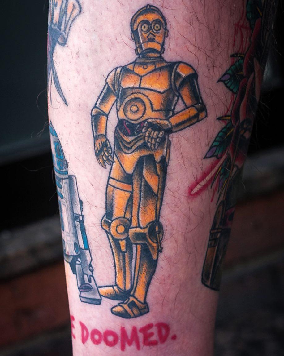 Some healed stuff, 5 months in  #tattoo #tattooing #starwars #starwarstattoo #ne...