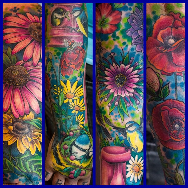 Some of Christiane's Garden Füll Sleeve - Most if it fully healed and settled in...