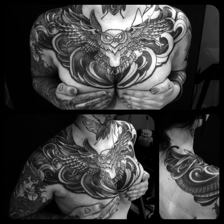 Some progress on this huge chest-shoulder-piece.....Thx franzi & Thx for looking