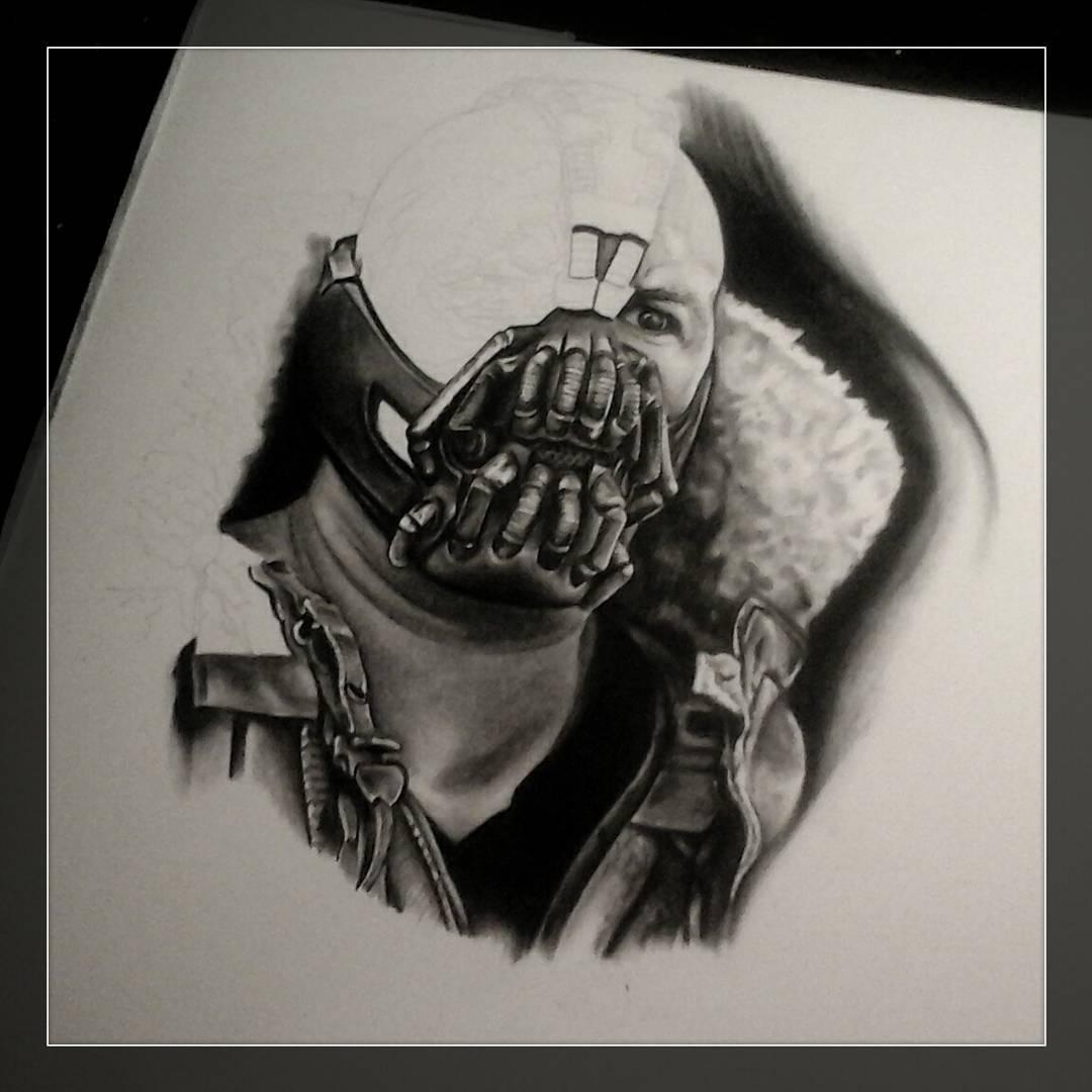 Some progress.....#germantattooers #drawing #batman #bane #pencildrawing #blackn